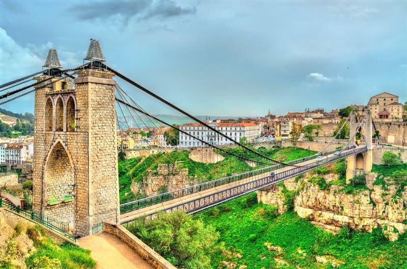 Sidi M`Cid Bridge across the Rhummel River in Constantine, Algeria. Sidi M`Cid Bridge across the Rhummel River Canyon in Constantine - Algeria, North Africa royalty free stock image