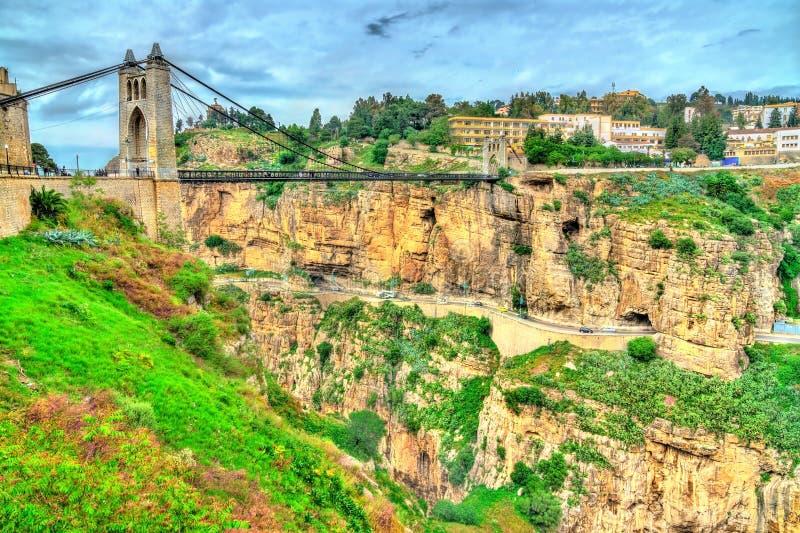 Sidi M ` Cid most przez Rhummel rzekę w Constantine, Algieria zdjęcia stock
