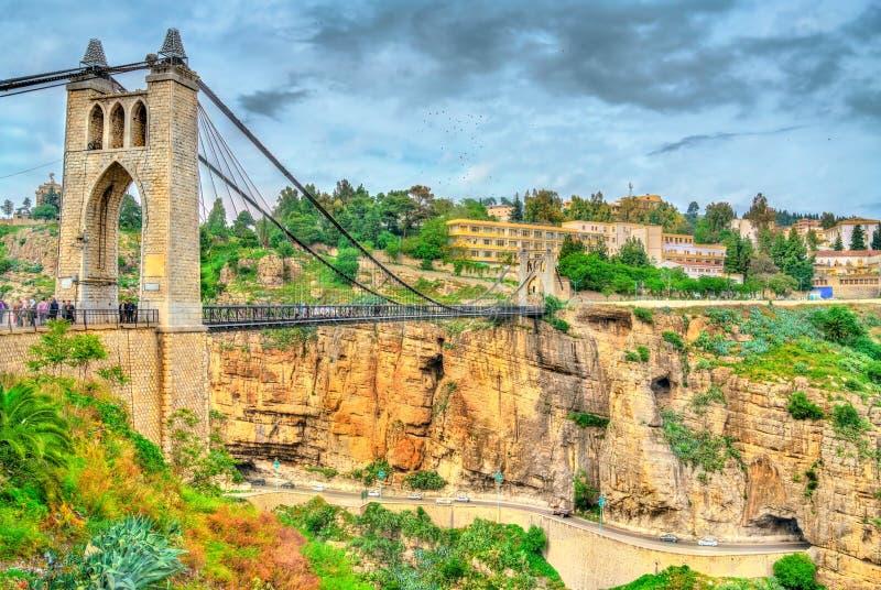 Sidi M ` Cid most przez Rhummel rzekę w Constantine, Algieria zdjęcie royalty free