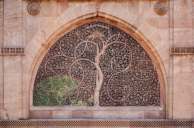 Sidi saiyed o jali Ahmedabad imagem de stock