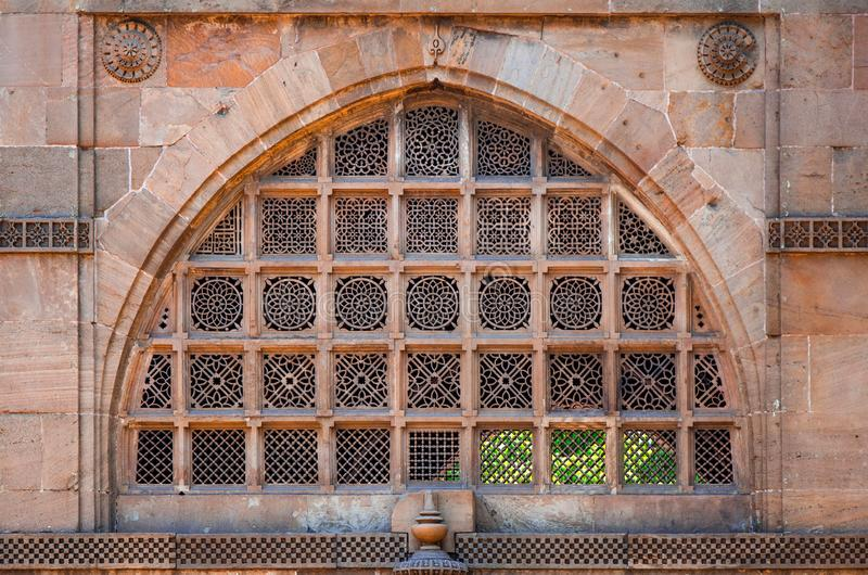 Sidi Saiyyed Ni-jali u. x28; Mosque& x29; Ahmedabad stockfotografie