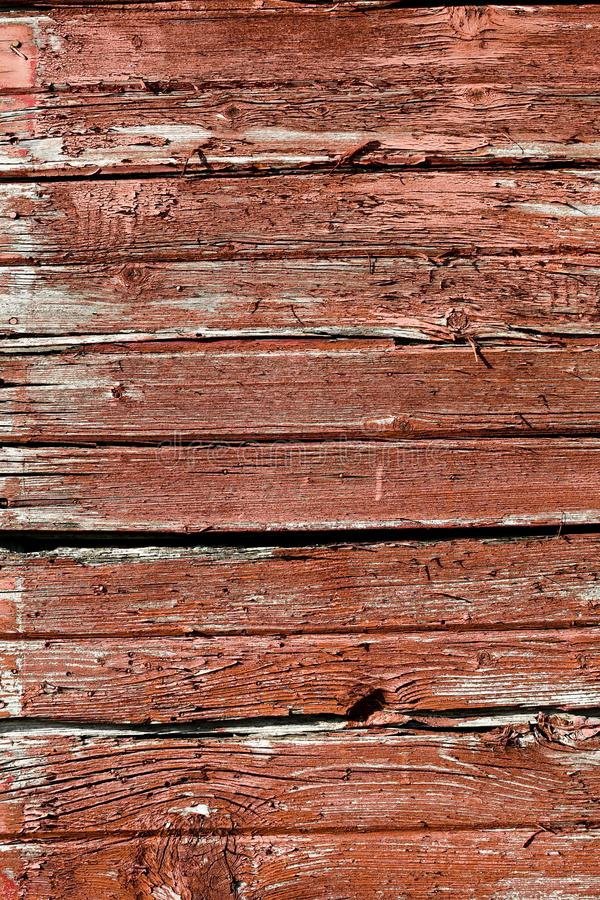WEATHERED WORN RED BARN WOOD SIDING royalty free stock photography