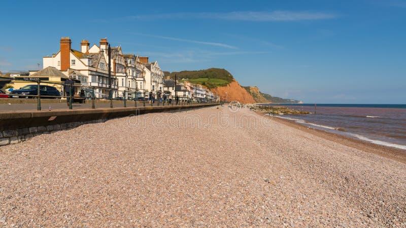 Sidmouth,侏罗纪海岸,德文郡,英国 免版税库存图片