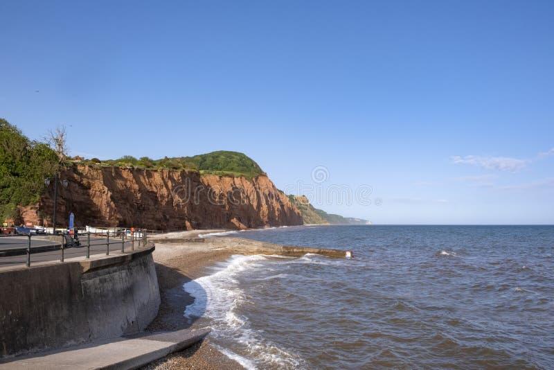 Sidmouth na Jurajskim wybrzeżu, UK zdjęcia stock