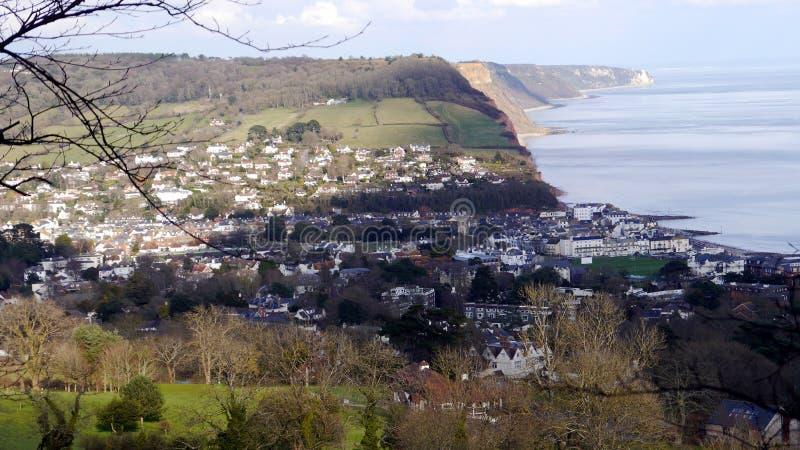 Sidmouth Une station de vacances populaire en Devon South West England images libres de droits