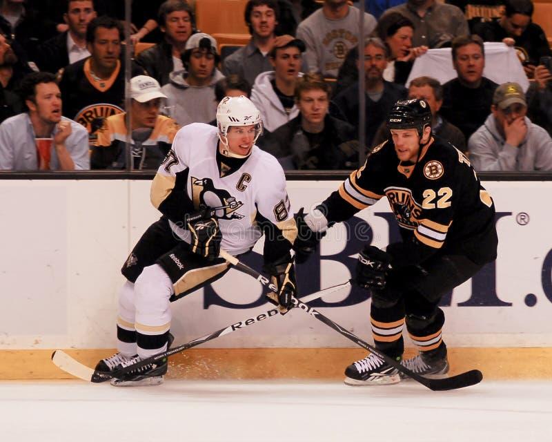 Sidney Crosby e Shawn Thornton fotografie stock
