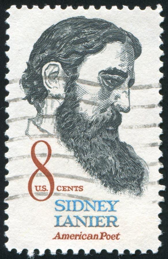 Sidney Lanier. UNITED STATES - CIRCA 1971: stamp printed by United states, shows Sidney Lanier, circa 1971 stock photos