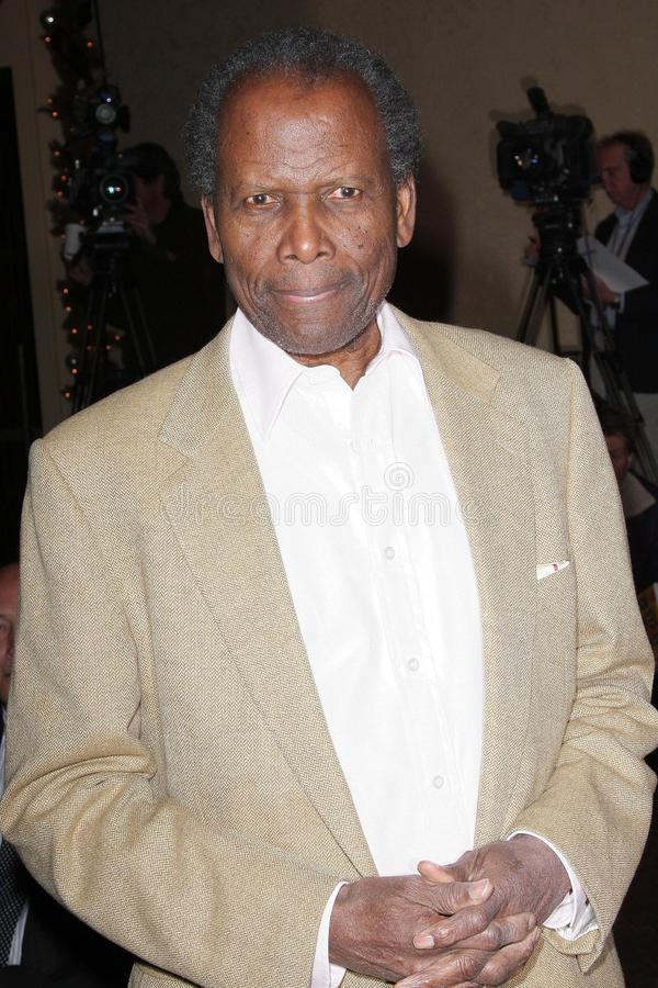 Sidney Poitier. At the unveiling ceremony for the new United States Postal Service Stamp Honoring Frank Sinatra. Beverly Hilton Hotel, Beverly Hills, CA. 12-12 royalty free stock images