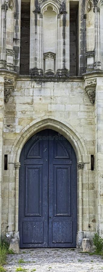 Sidoingång till Chateau de Vincennes - Vincennes, Val-de-Marne, Frankrike arkivbilder