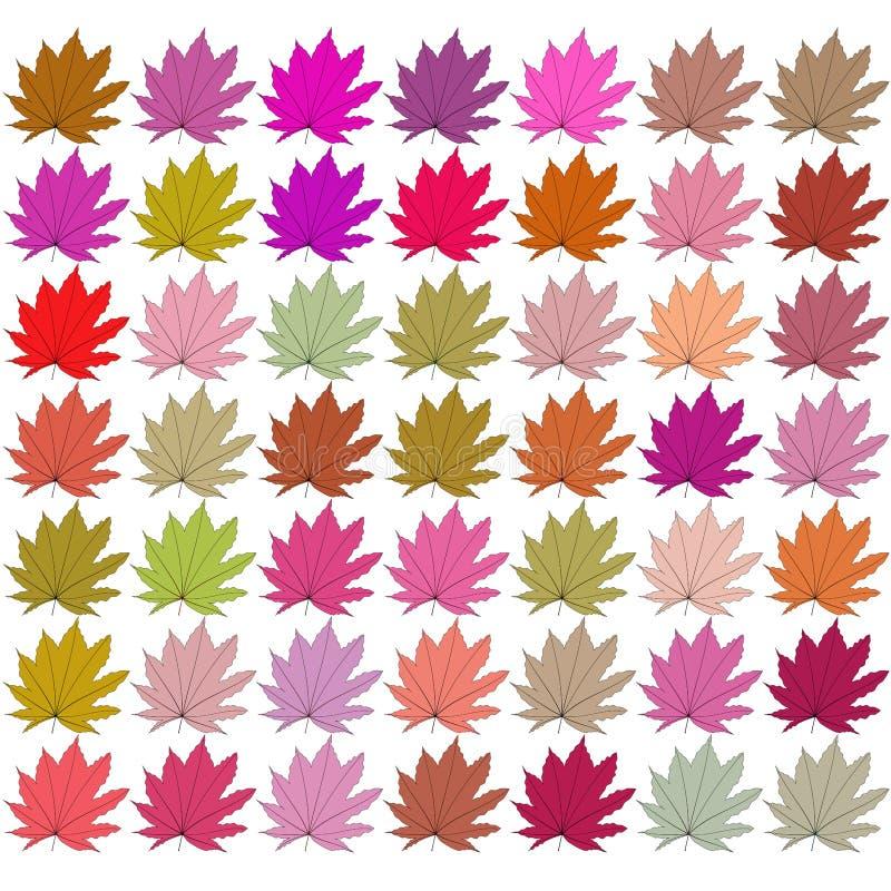 Sidor av olika färger raster royaltyfri illustrationer