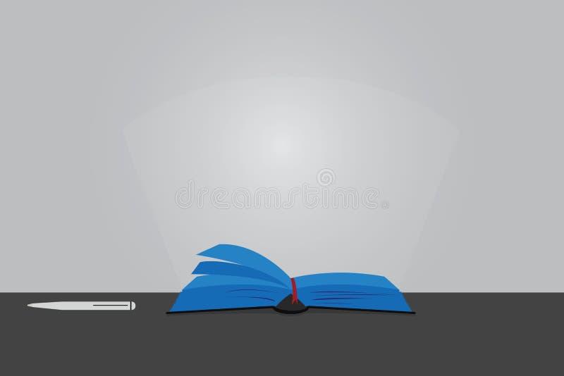 Sidor för färg för bakgrund för tomt utrymme för kopia för designaffärsidé moderna abstrakta av Open bokvektorn på tabellen med p vektor illustrationer