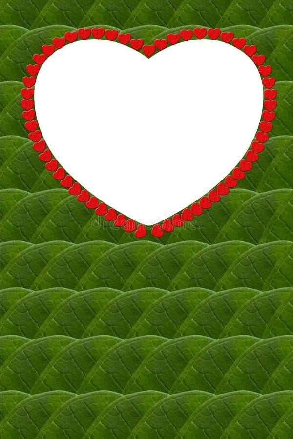 Sidor hjärta-formad ram. royaltyfri illustrationer