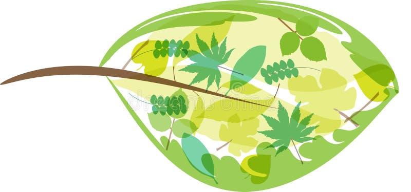 Sidor inom (en tillgänglig) bladdesign, royaltyfri illustrationer