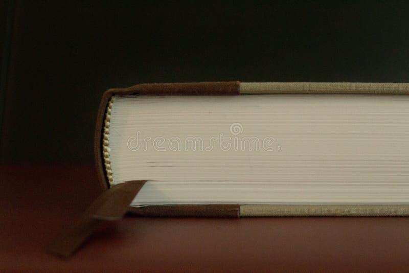 Sidorna av en antik stängd bok royaltyfria bilder
