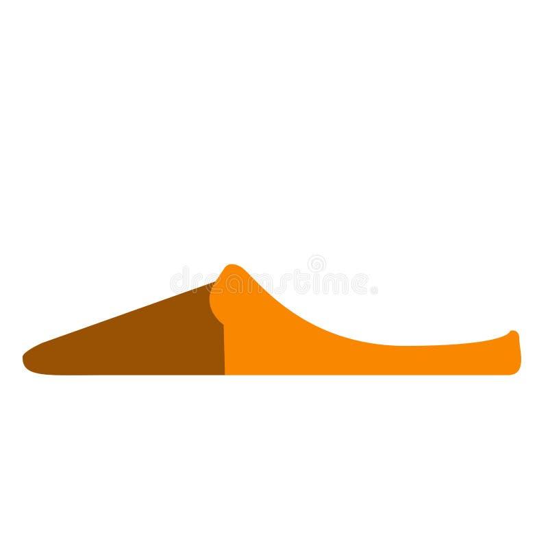 Sidosikt av en sandal vektor illustrationer