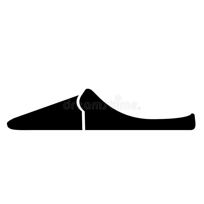 Sidosikt av en sandal stock illustrationer