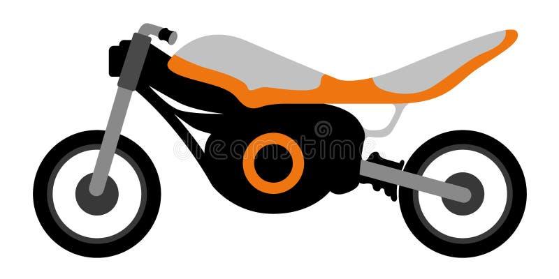 Sidosikt av en tävlings- motorcykel royaltyfri illustrationer