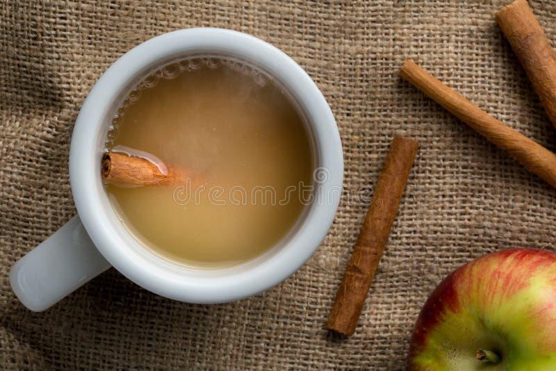 Sidra de manzana caliente imagen de archivo libre de regalías