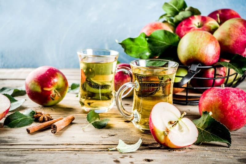 Sidra de manzana hecha en casa imagenes de archivo