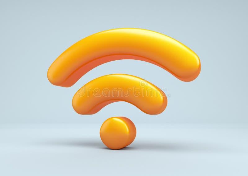 Sieć bezprzewodowa symbol. royalty ilustracja