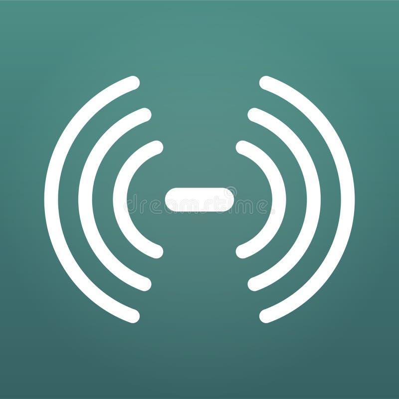 Sieć Bezprzewodowa symbol, wifi sygnałowa ikona tła czarny ilustraci dźwięka wektor macha biel Wektorowa ilustracja odizolowywają ilustracja wektor