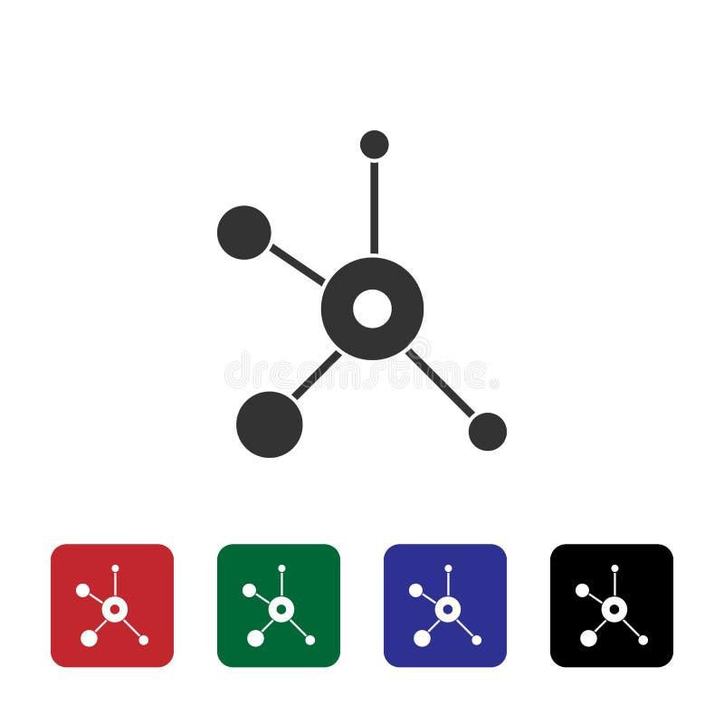 Sieć, biologia wektoru ikona Prosta element ilustracja od biotechnologii poj?cia Sieć, biologia wektoru ikona Bioengineering wekt ilustracji