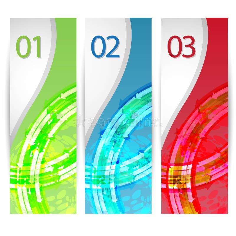 Sieć chodnikowowie w liczbach lub sztandary EPS wektor ilustracja wektor