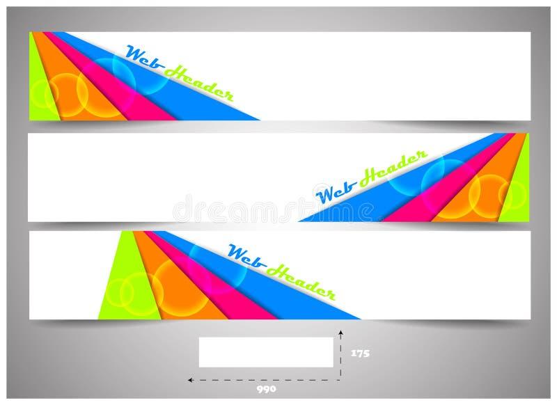 Sieć chodnikowowie z precyzyjnym wymiarem, set sztandary ilustracja wektor