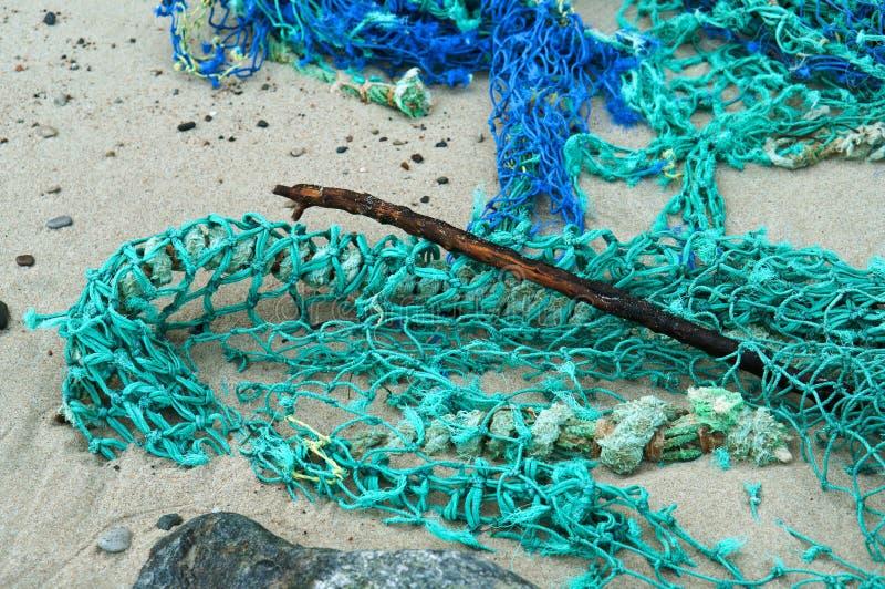Sieć dla ryba plątał sieć, blaszka połowu sieć obrazy stock