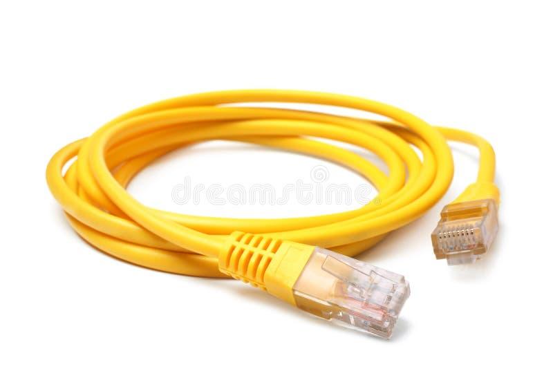 Sieć ethernetów kabel z RJ45 włącznikami obrazy stock