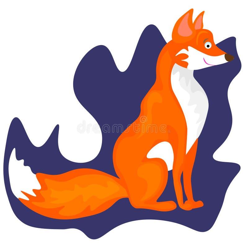 Sieć Fox - urocza ilustracja i karta royalty ilustracja
