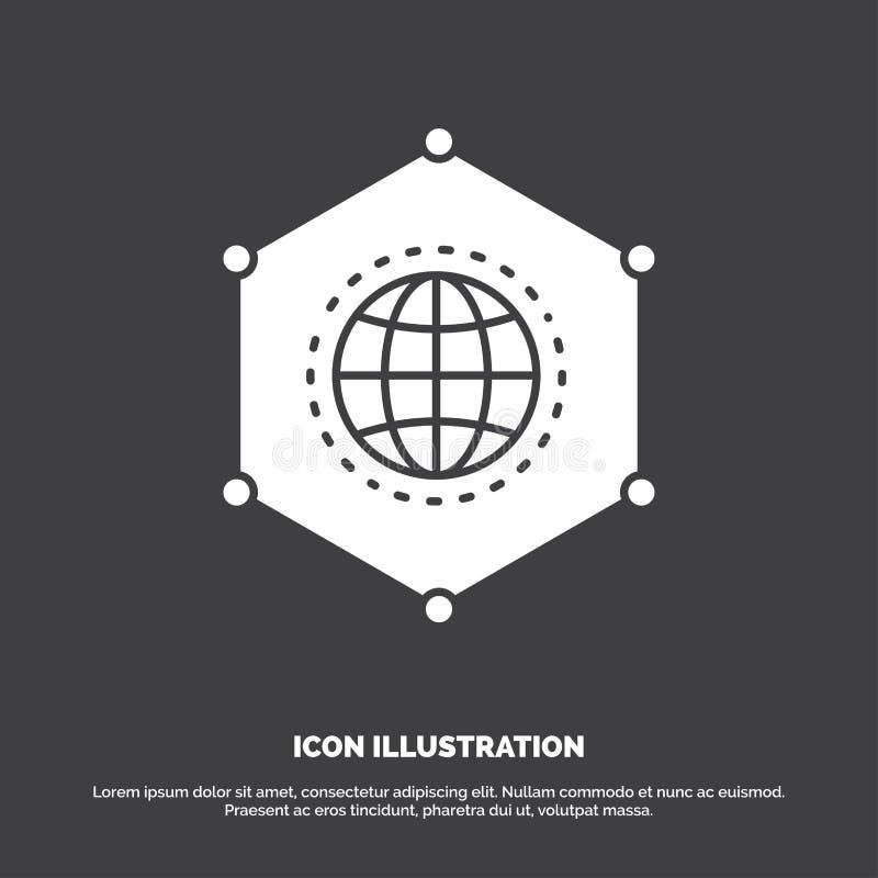 Sieć, Globalna, dane, związek, Biznesowa ikona glifu wektorowy symbol dla UI, UX, strona internetowa i wisz?cej ozdoby zastosowan ilustracji