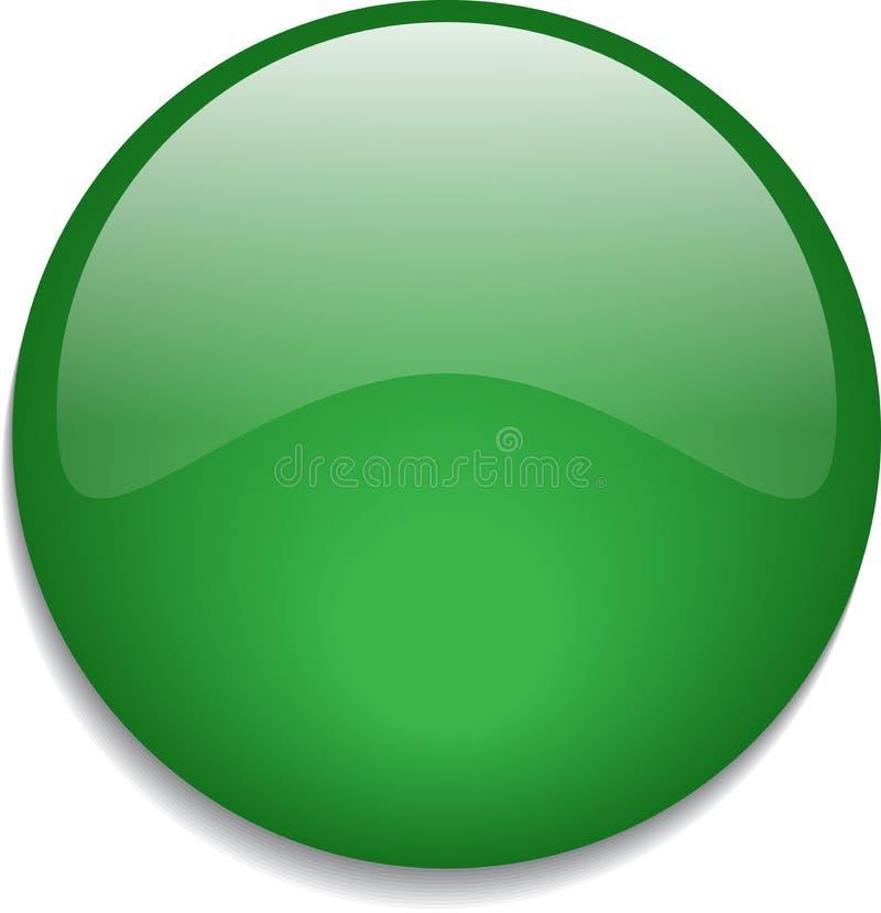 Sieć guzika glansowana zieleń ilustracji