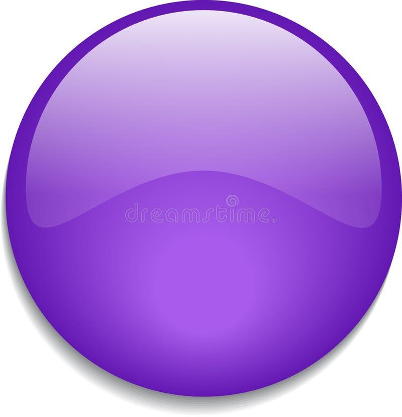 Sieć guzika glansowane purpury ilustracja wektor