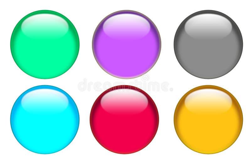 Sieć guzika ikona na białym tle guzik dla twój strona internetowa projekta, logo, app, UI szklisty guzika setu znak royalty ilustracja
