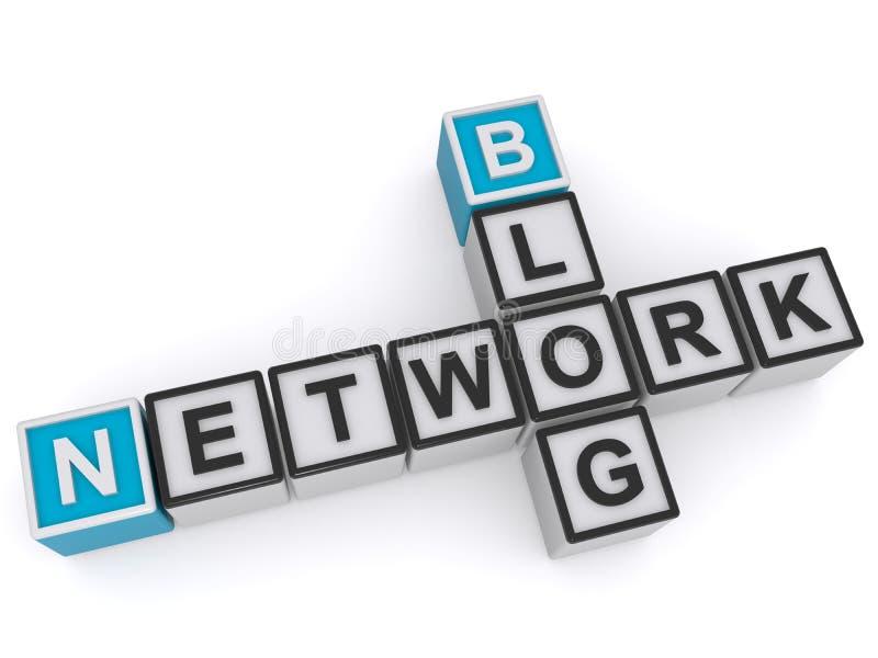 Sieć i blog royalty ilustracja