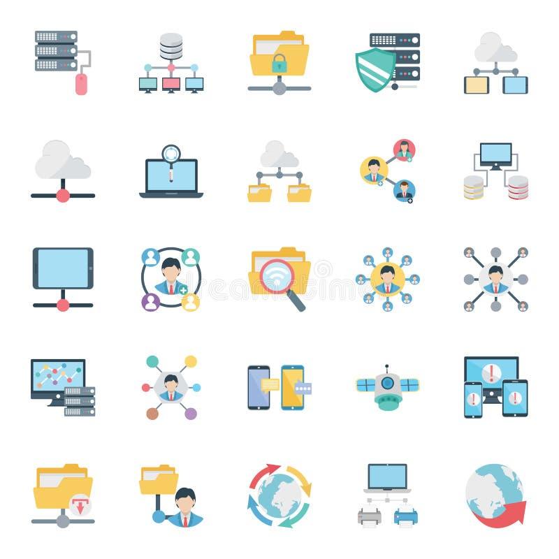 Sieć i komunikacja Odizolowywaliśmy Wektorowe ikony ustawiamy editable i możemy modyfikujący łatwo royalty ilustracja