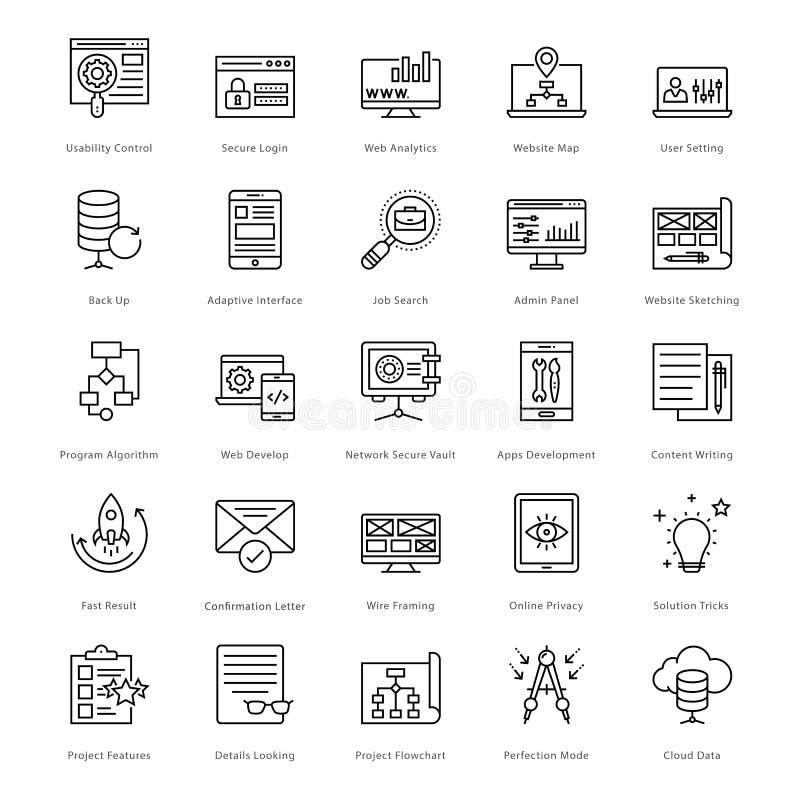 Sieć i SEO linii Wektorowe ikony 20 ilustracji