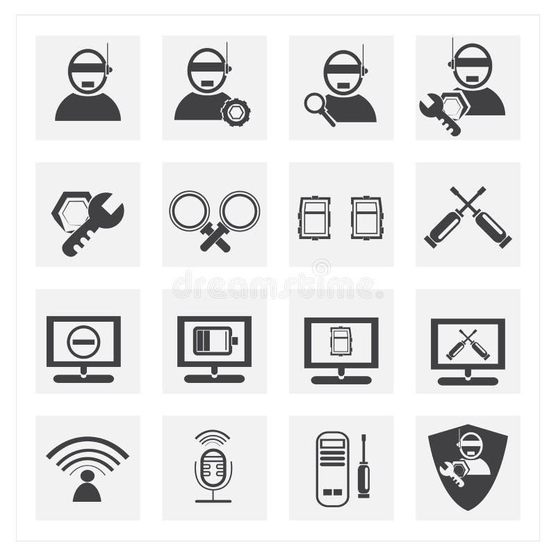 Sieć i systemu komputerowego administrator sety ilustracji