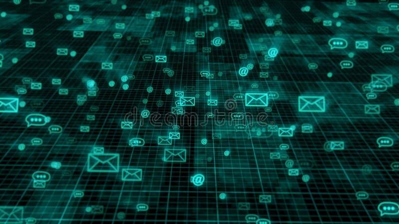 Sieć interneta poczta technologia ilustracja wektor