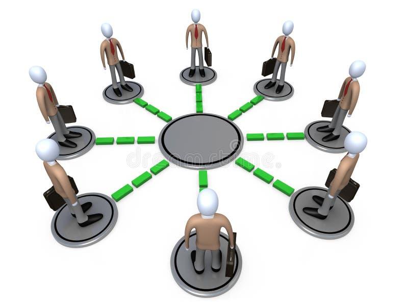 sieć jednostek gospodarczych ilustracja wektor
