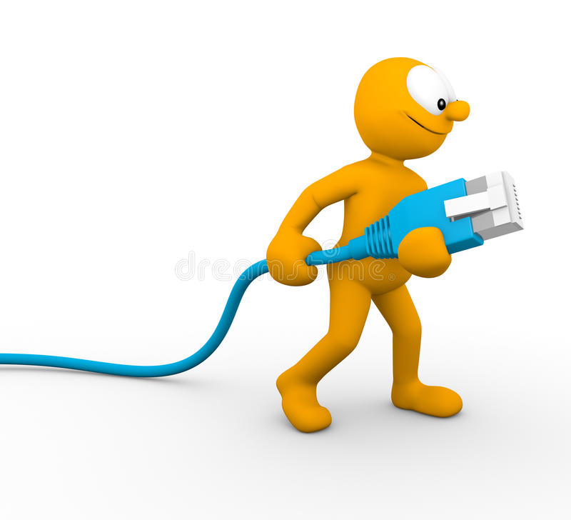 Sieć kabel ilustracja wektor