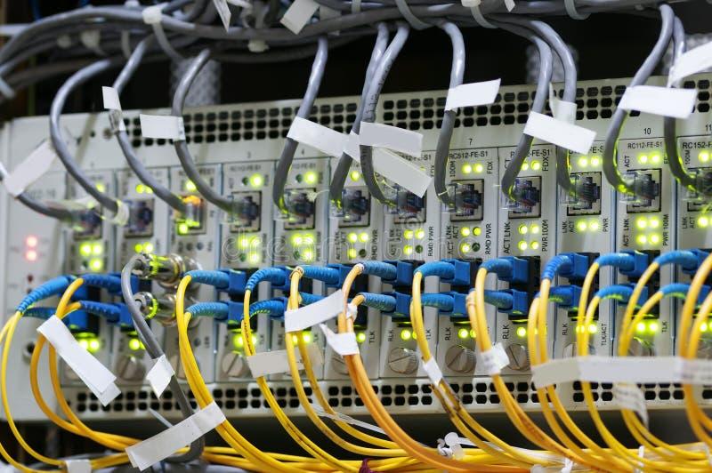 Sieć kabel zmiana obraz stock