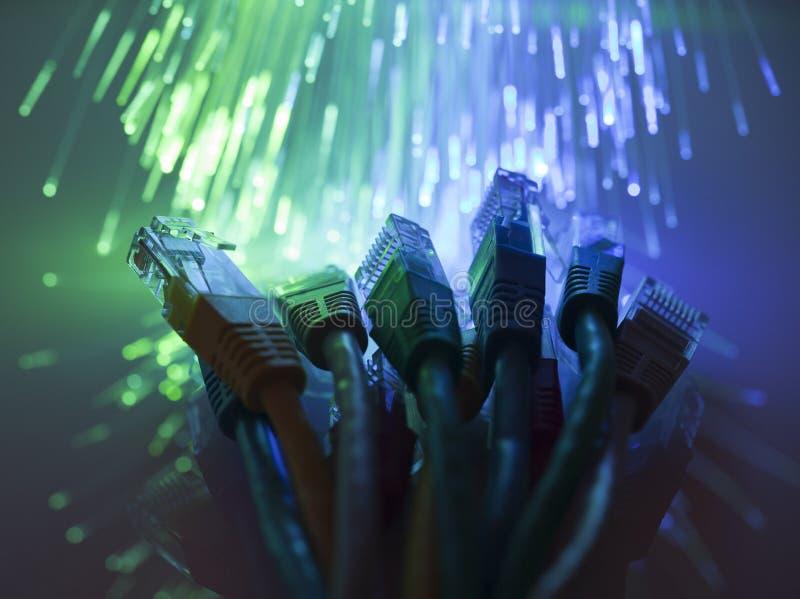 Sieć kable obraz stock