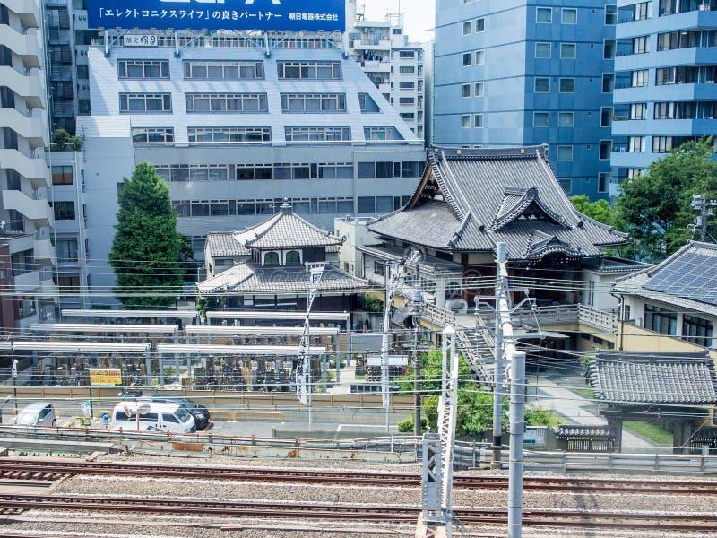 Sieć kolejowa w Tokio, Japonia zdjęcia royalty free