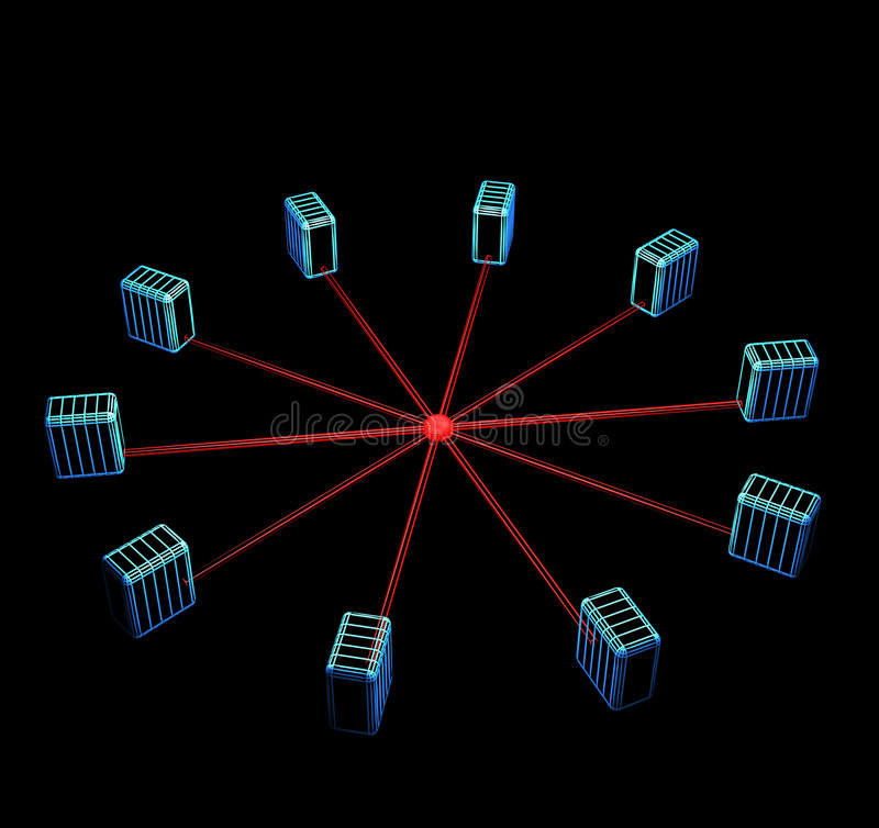sieć komputerową topologia obrazy royalty free
