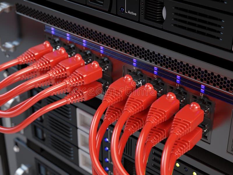 Sieć komputerowa serwer ilustracja wektor