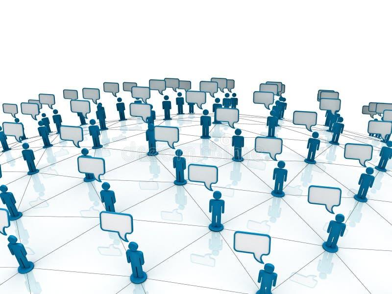 sieć komunikacyjna ilustracji