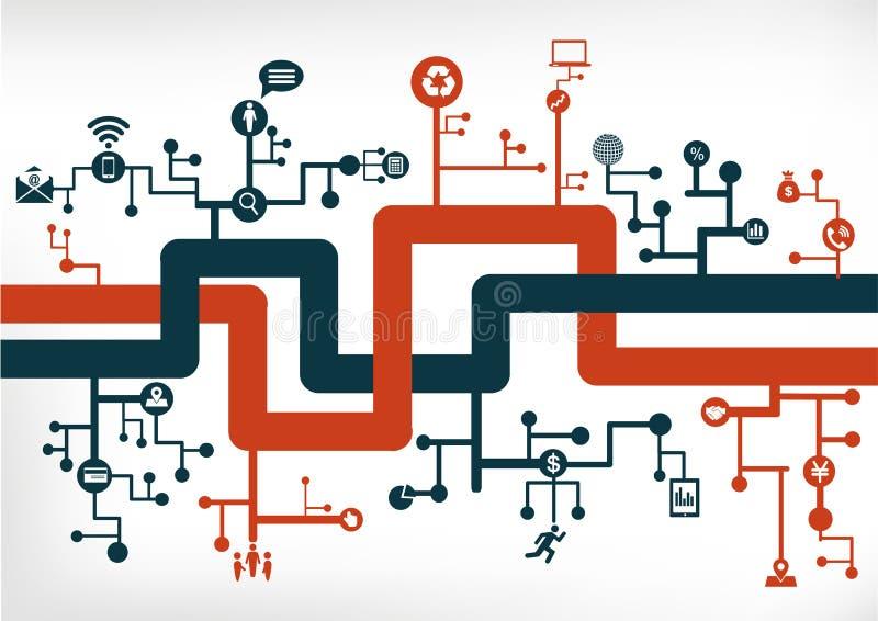 Sieć komunikacyjna royalty ilustracja