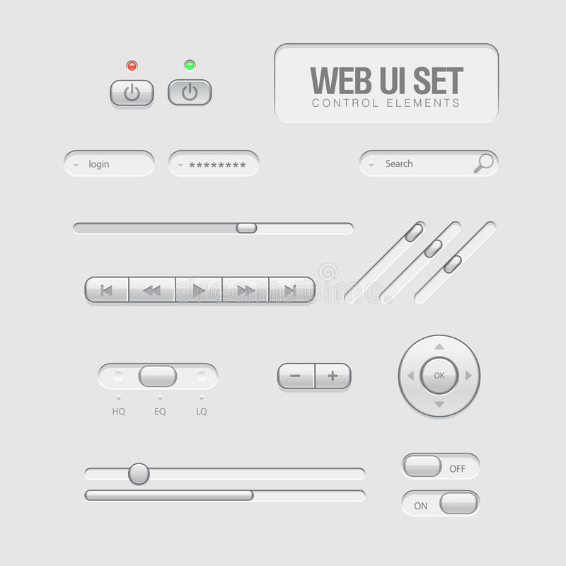 Sieć lekcy Elementy UI ilustracja wektor